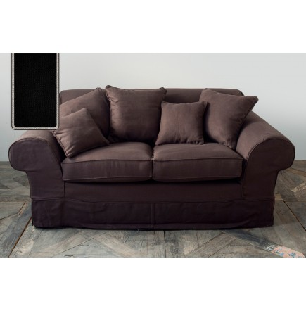 cedar point sofa 2 seater linen black flax rivi ra maison. Black Bedroom Furniture Sets. Home Design Ideas