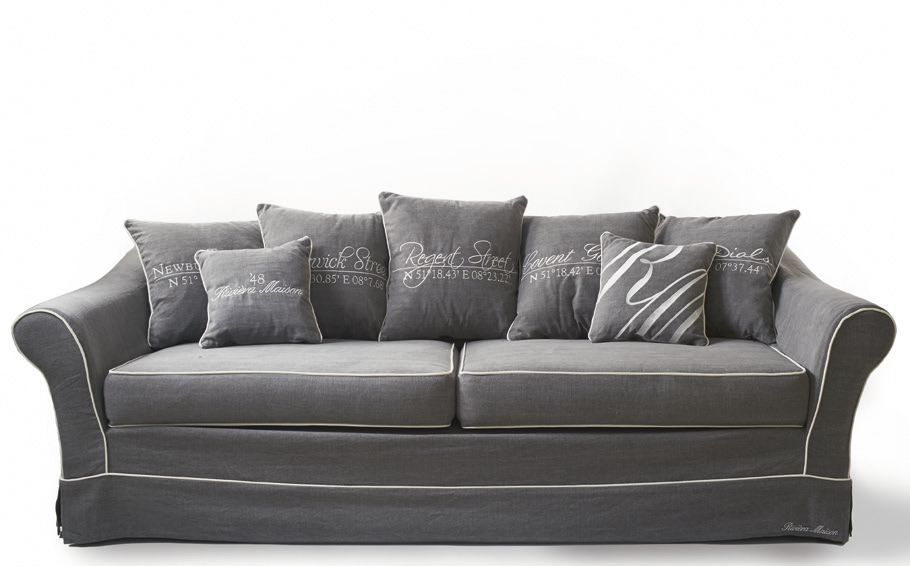 kensington sofa 3 5 seater washed cotton rivi ra maison. Black Bedroom Furniture Sets. Home Design Ideas
