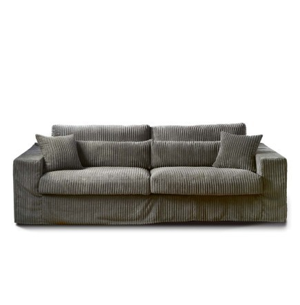 metropolis sofa 3 5 seater sofa rib grey rivi ra maison. Black Bedroom Furniture Sets. Home Design Ideas