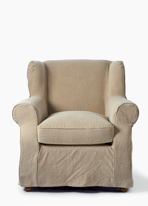 tampa bay wing chair washed linen flax rivi ra maison. Black Bedroom Furniture Sets. Home Design Ideas
