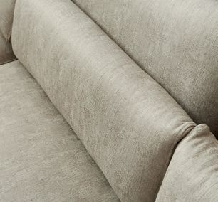 Brompton Cross Corner Sofa Chaise Longue Left Washed Cotton Brown / Rivièra Maison