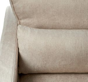 Brompton Cross Corner Sofa Chaise Longue Right Washed Cotton Brown / Rivièra Maison