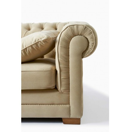 crescent avenue 2 5 seater sofa cotton sand rivi ra maison. Black Bedroom Furniture Sets. Home Design Ideas