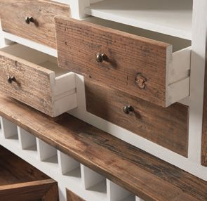 Driftwood Cabinet with Winerack double / Rivièra Maison-1