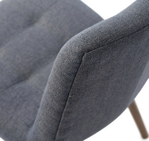Duke Dining Chair Polyester Herringbone Mouse / Rivièra Maison