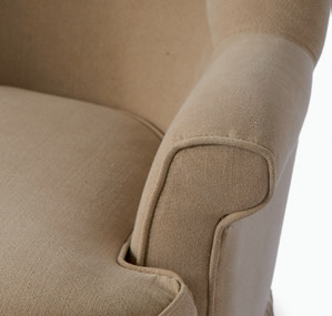 Howard Bay Armchair Washed Linen Flax / Rivièra Maison