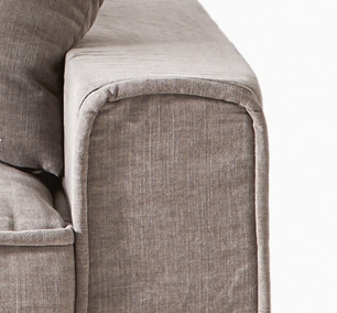 Metropolis Love Seat Washed Cotton Stone / Rivièra Maison-1
