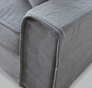 Metropolis Sofa 2,5 Seater Washed Cotton Blue / Rivièra Maison