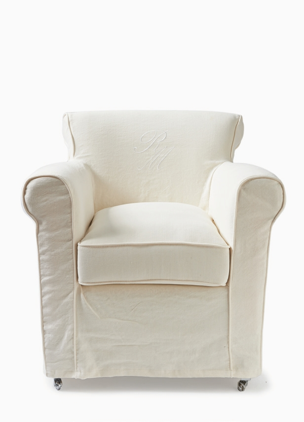Paramount Armchair with loose cover Washed Linen White / Rivièra Maison-1