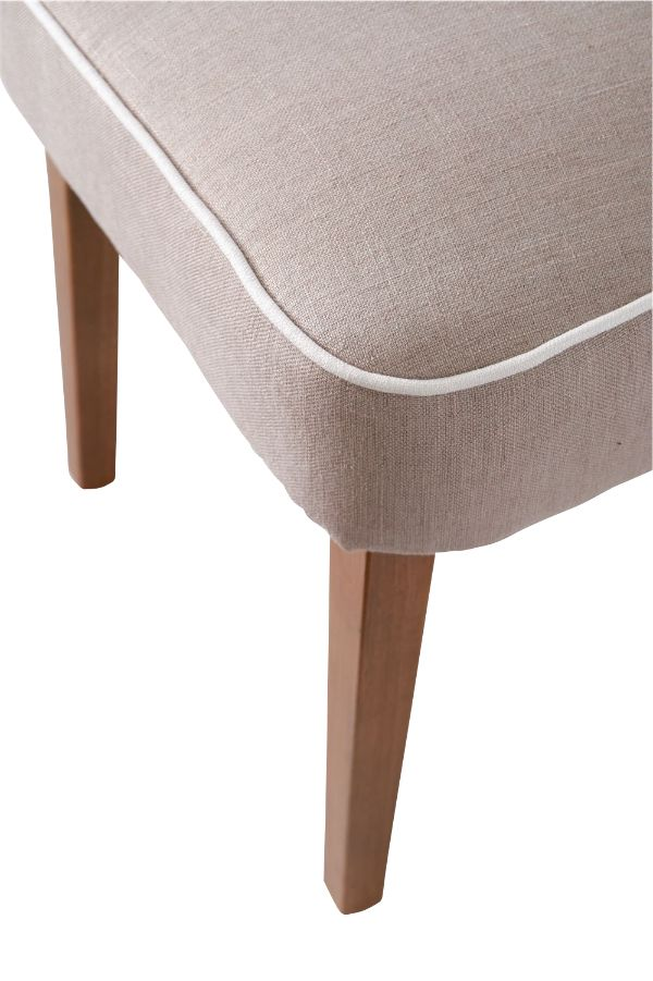 Pebble Beach Dining Chair FlaxWhite / Rivièra Maison