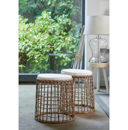 rustic rattan formentera stool rivi ra maison. Black Bedroom Furniture Sets. Home Design Ideas