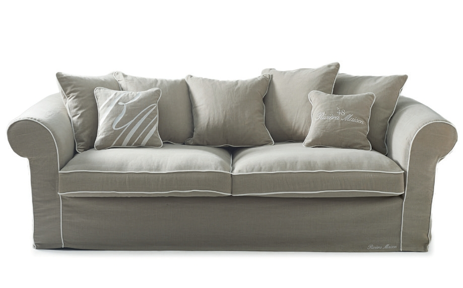 saint james 2 5 seater sofa washed cotton grey white rivi ra maison. Black Bedroom Furniture Sets. Home Design Ideas