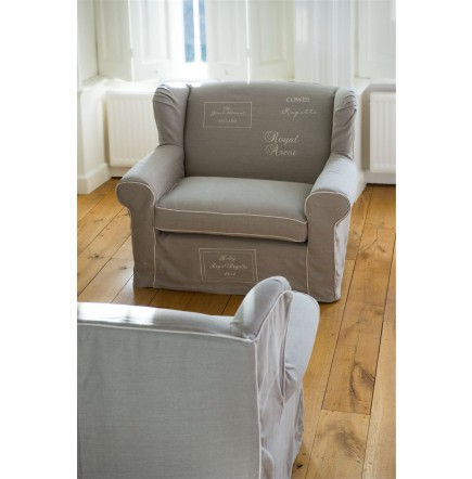 The Classic The Seasons Love Seat Linen Flax White / Rivièra Maison
