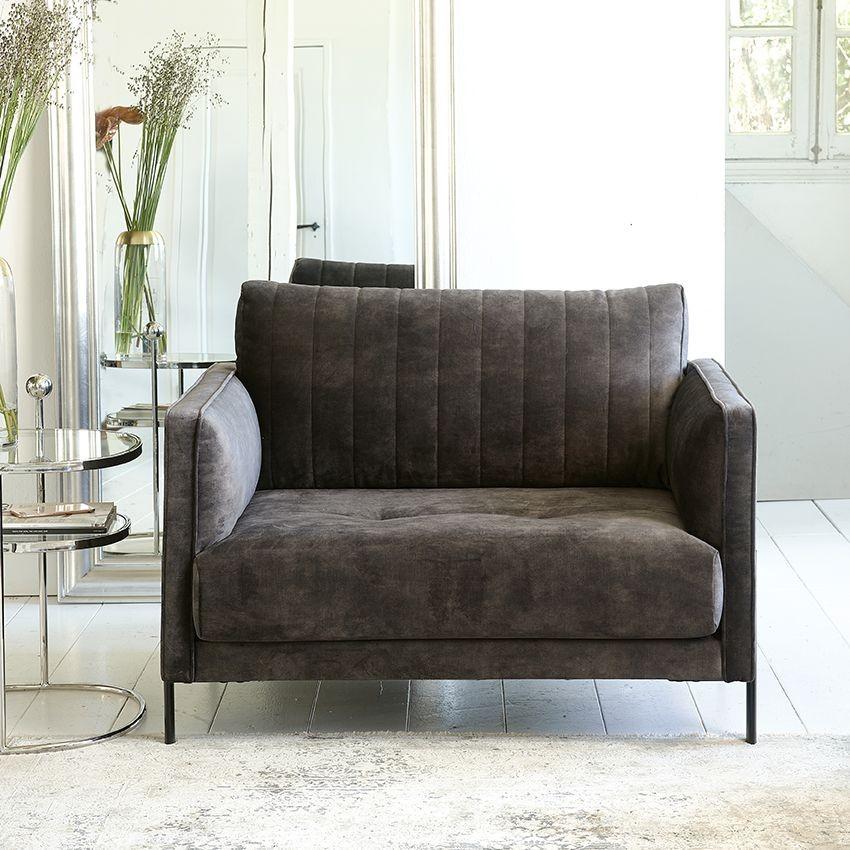 Bal Harbour Love Seat velvet grimaldi grey / Rivièra Maison