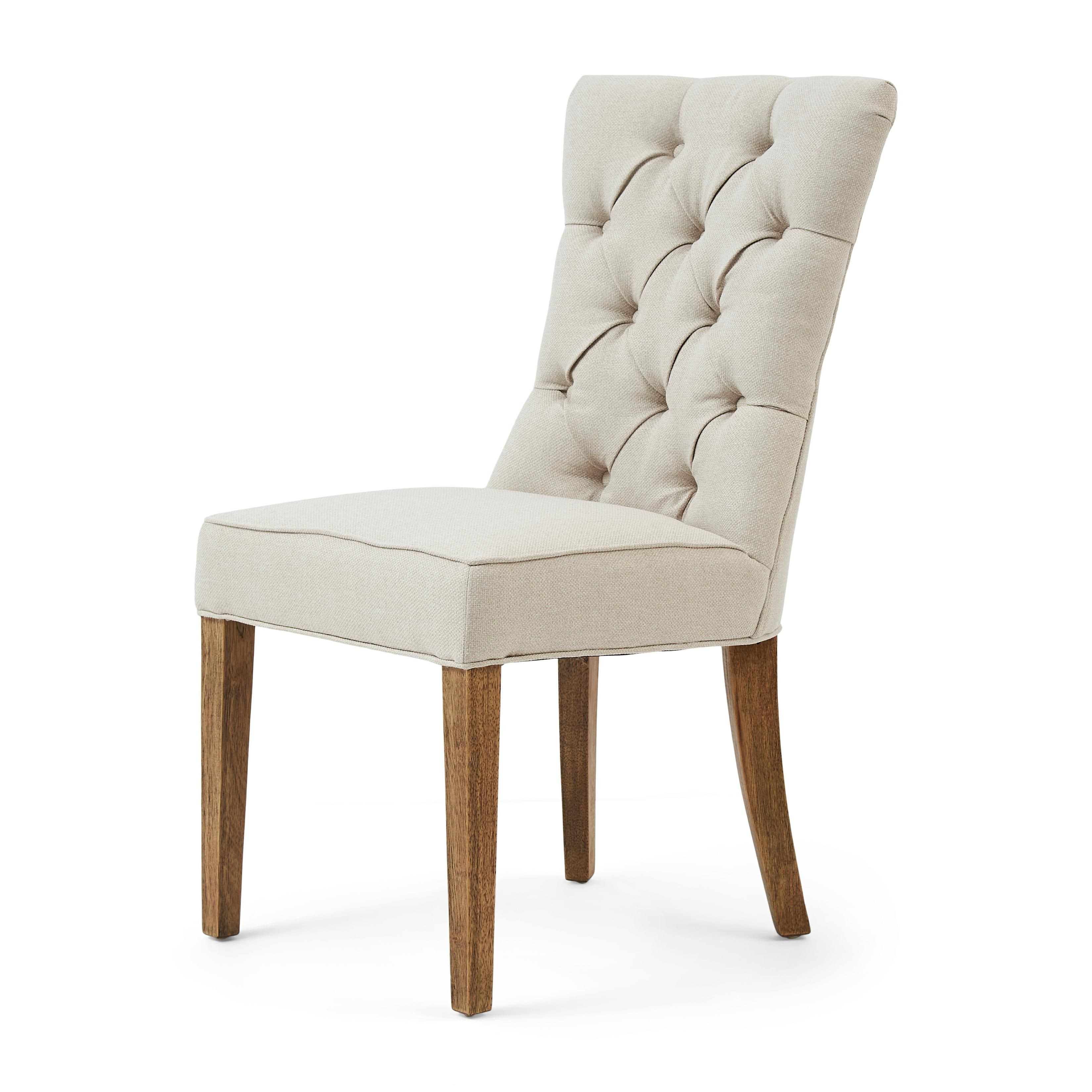 Balmoral Dining Chair oxford weave flanders flax / Rivièra Maison
