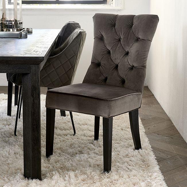 Balmoral Dining Chair velvet III anthracite / Rivièra Maison