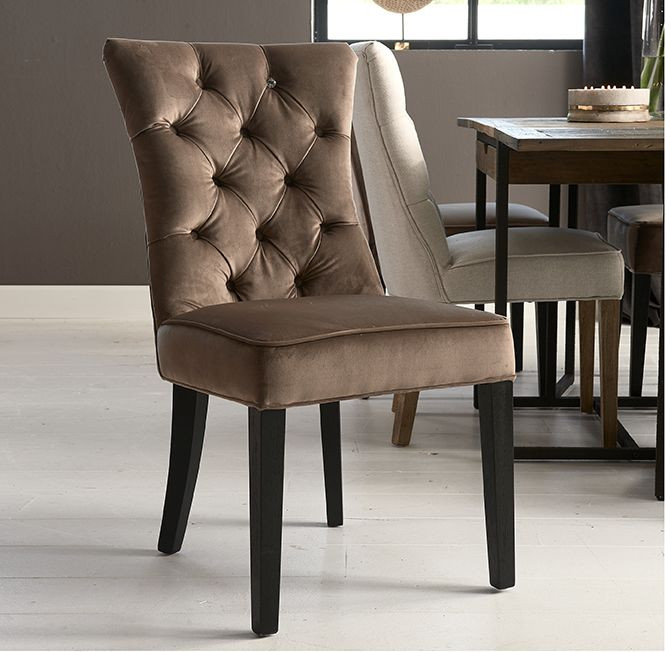 Balmoral Dining Chair velvet III golden mink / Rivièra Maison