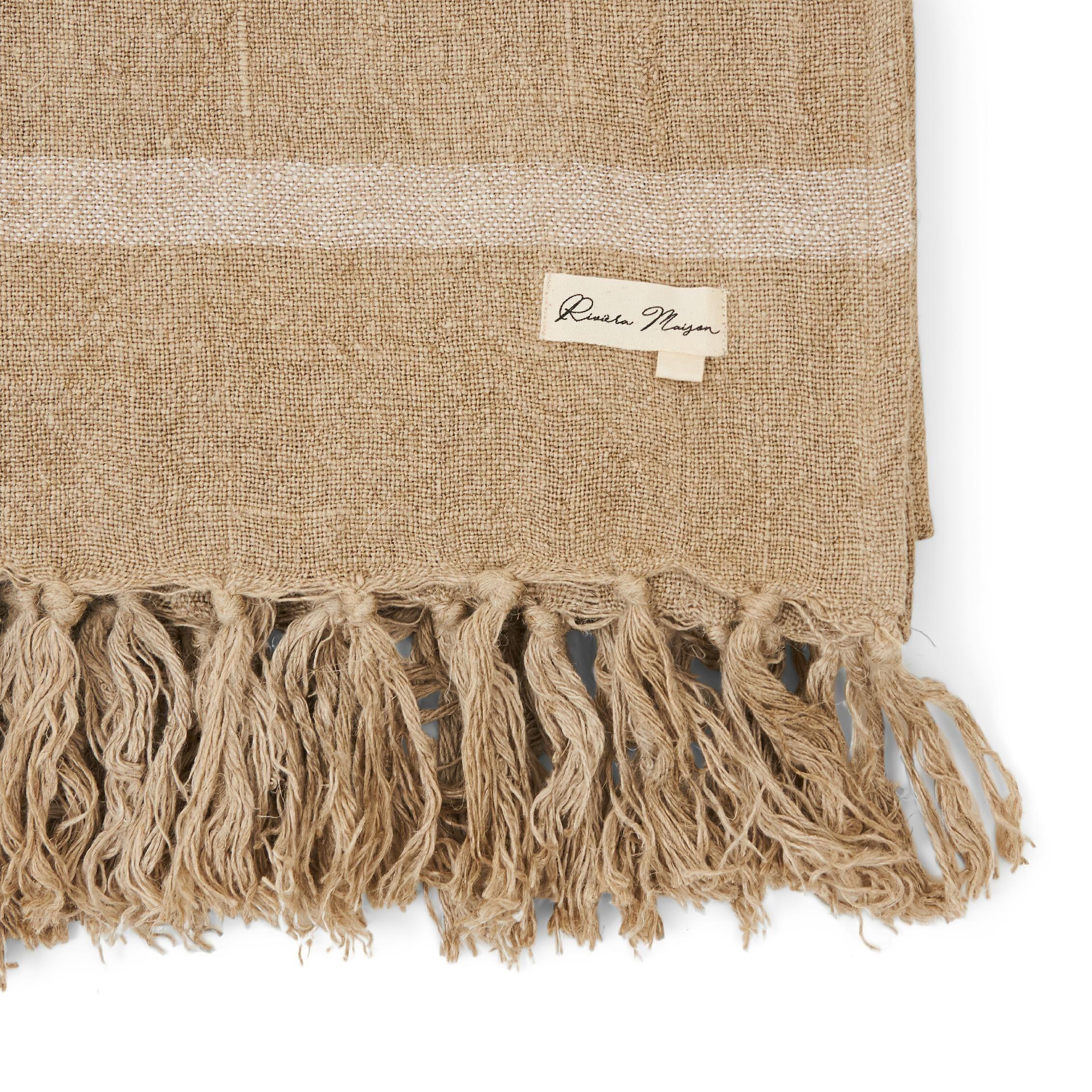 Basic Bliss Linen Throw flax 180x130 / Rivièra Maison