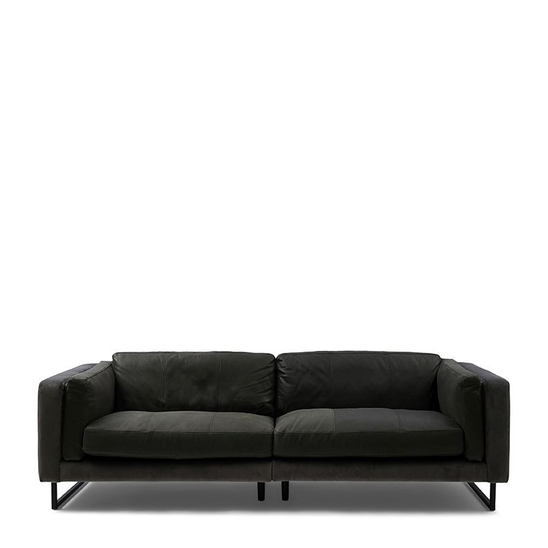 Biltmore Sofa 3,5 Seater leather charcoal / Rivièra Maison