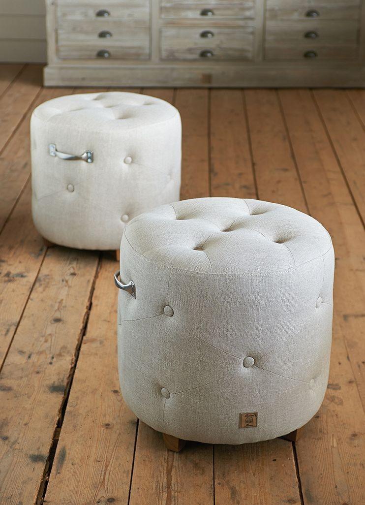 Bowery Footstool Linen / Rivièra Maison