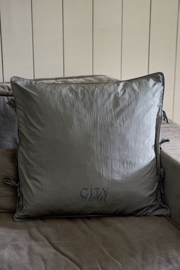 City Hotel Pillow Cover grey 60x60 / Rivièra Maison