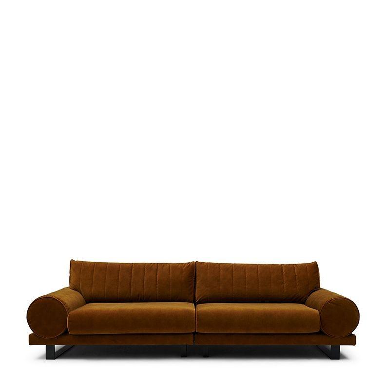 Collins Sofa 3,5 Seater velvet golden brown / Rivièra Maison