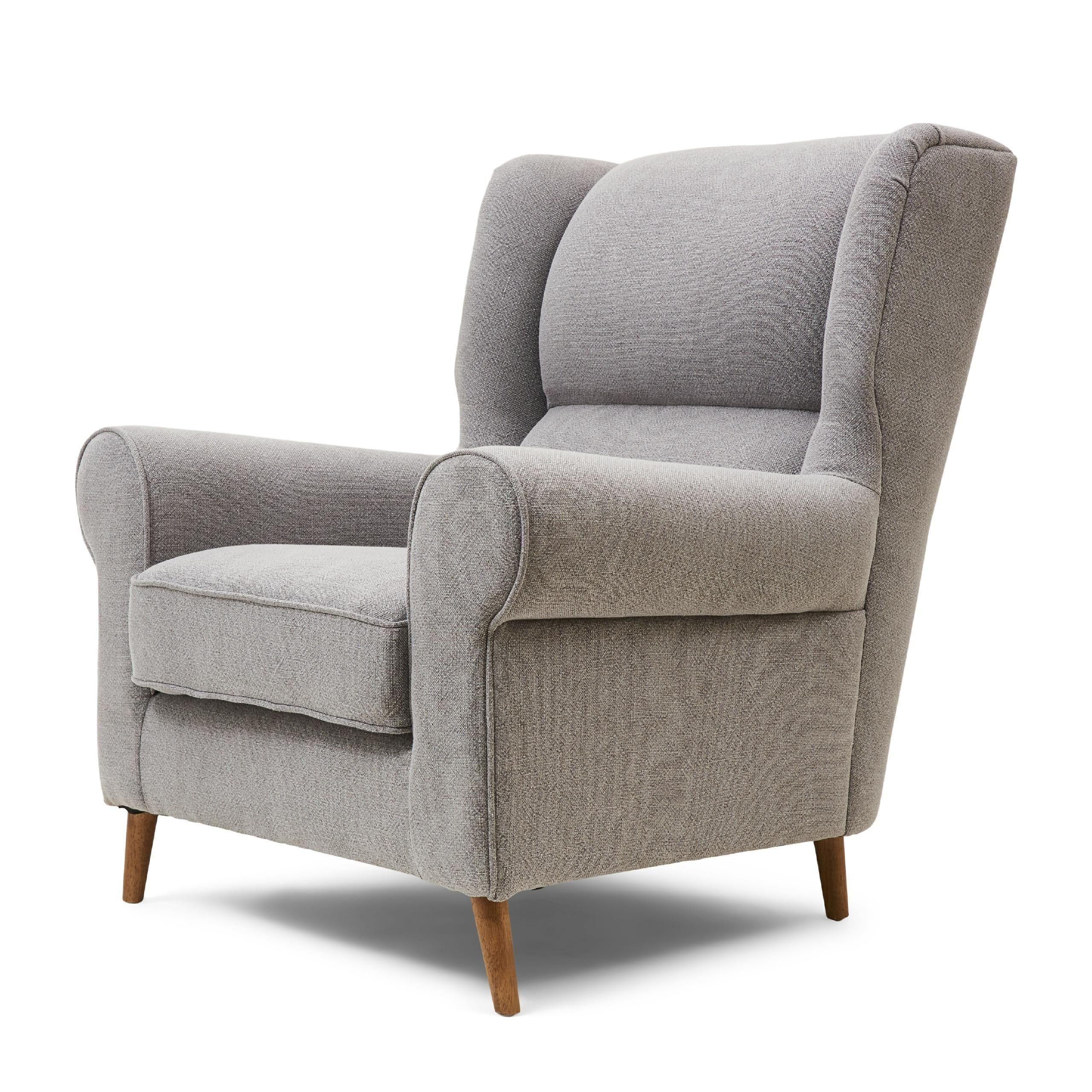 Delano Wing Chair mouliné linen elephant grey / Rivièra Maison