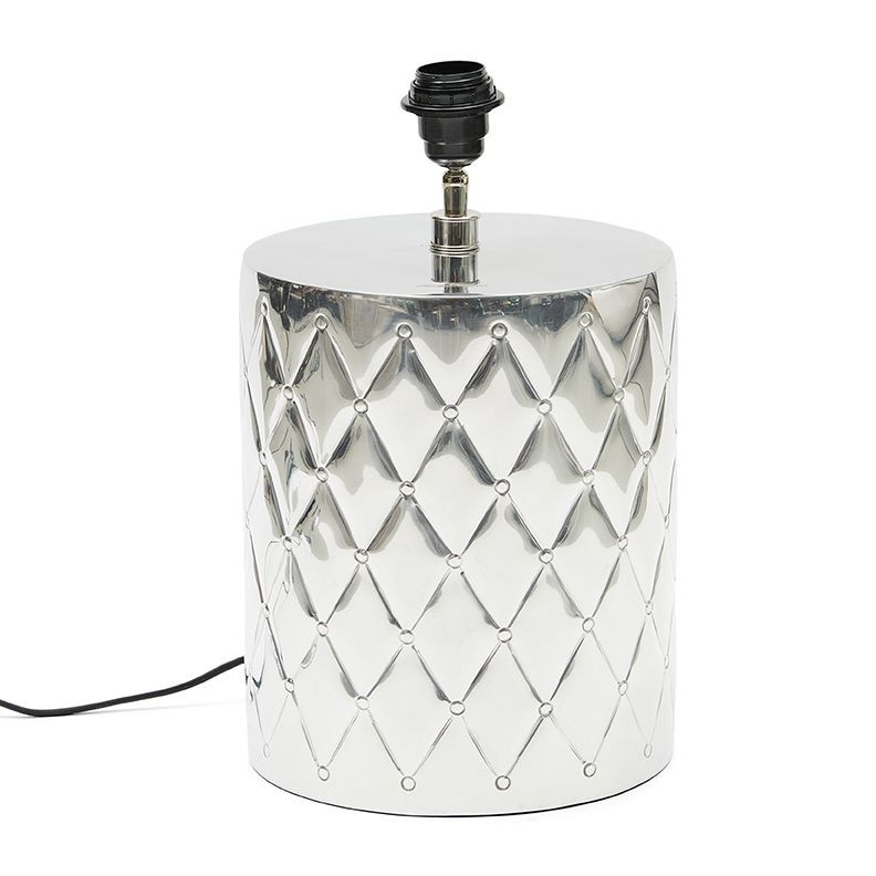 Docklands Matelasse Lamp Base silver / Rivièra Maison