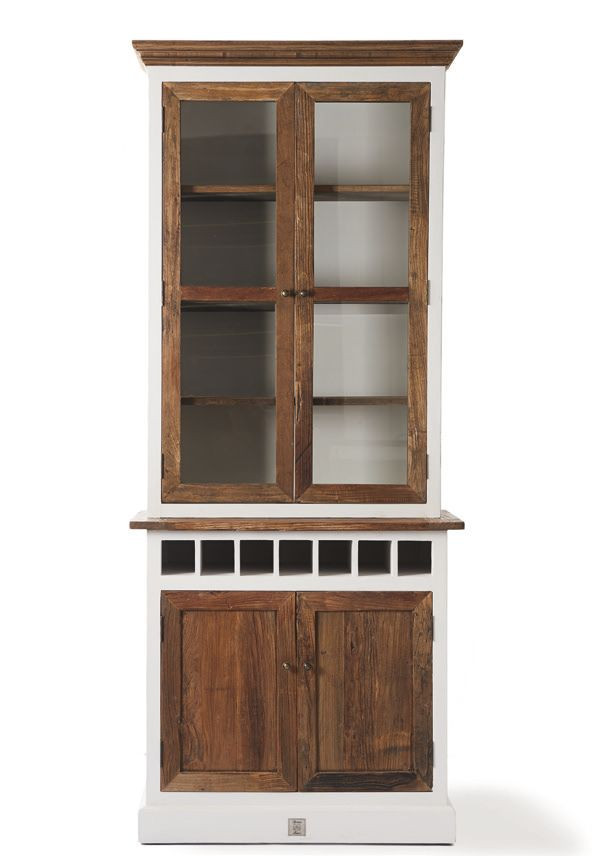 driftwood cabinet with winerack single rivi ra maison. Black Bedroom Furniture Sets. Home Design Ideas