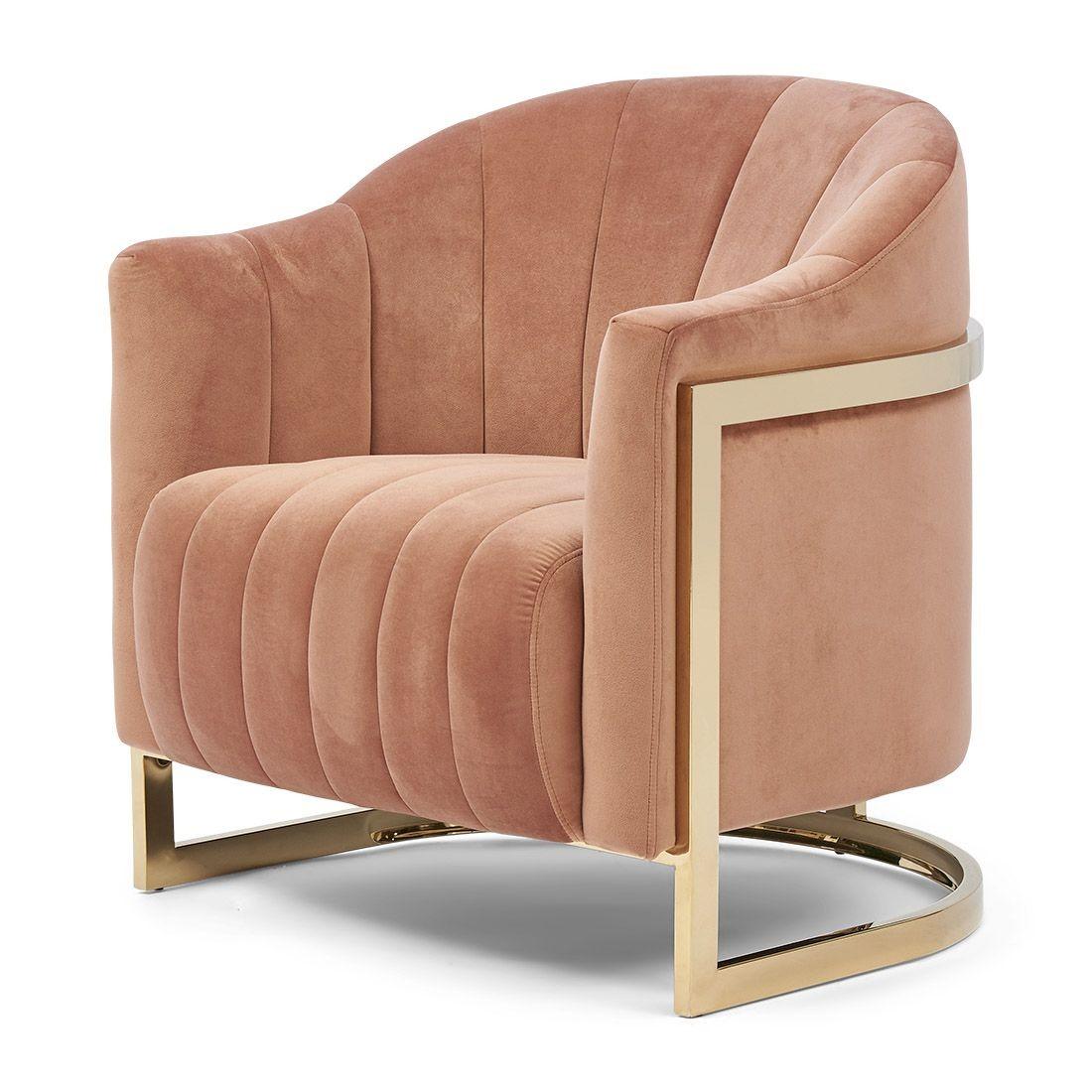 Elysee Armchair velvet blush / Rivièra Maison