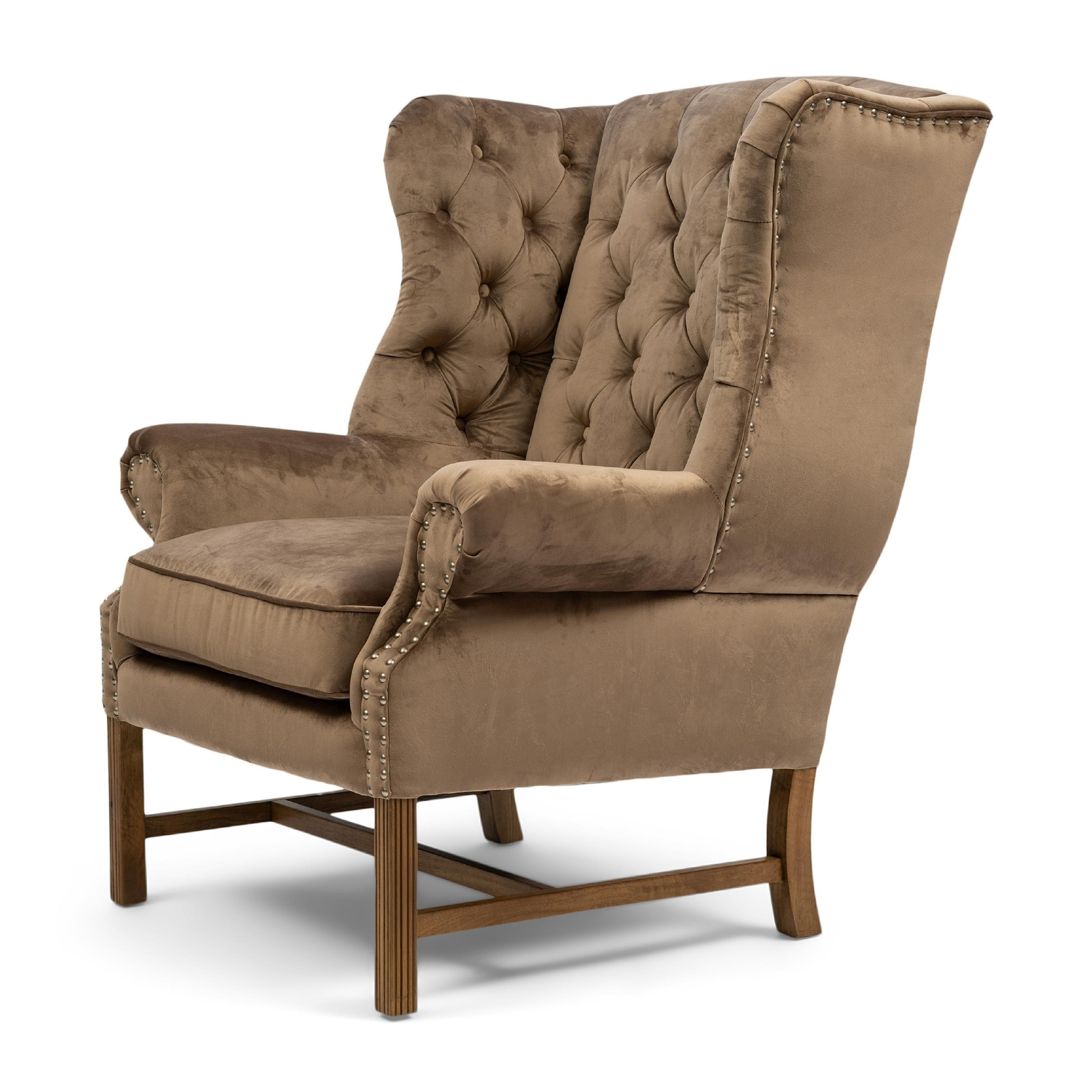 Franklin Park Wing Chair velvet III golden mink / Rivièra Maison