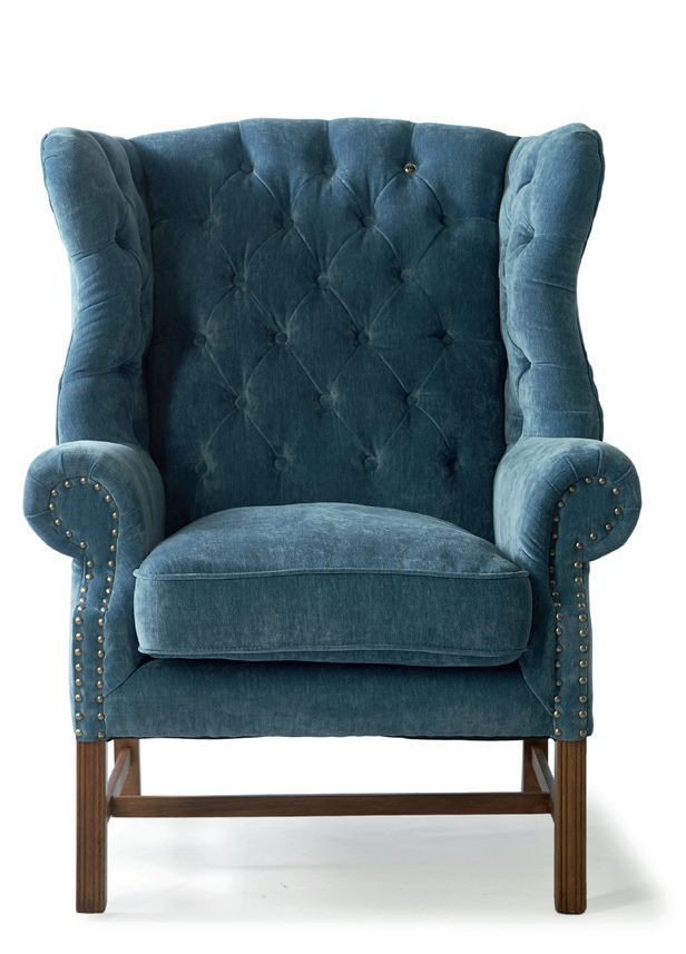 Franklin Park Wing Chair, velvet, palm / Rivièra Maison