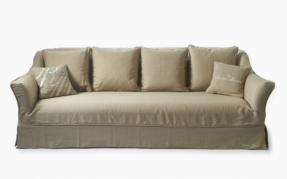Hampstead 3,5 Seater Sofa Linen Flax / Rivièra Maison