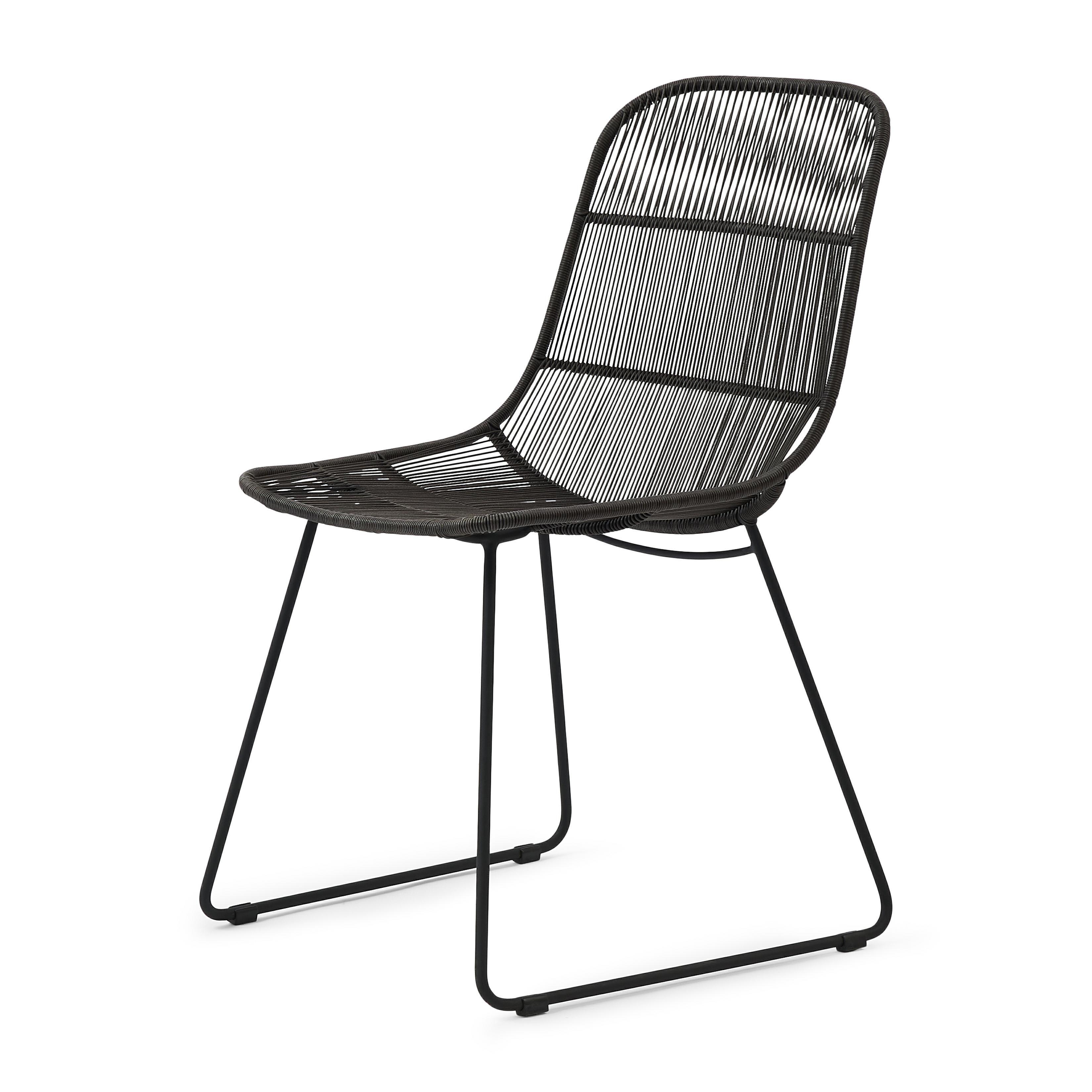 Hartford Outdoor Dining Chair Espresso/Lava / Rivièra Maison