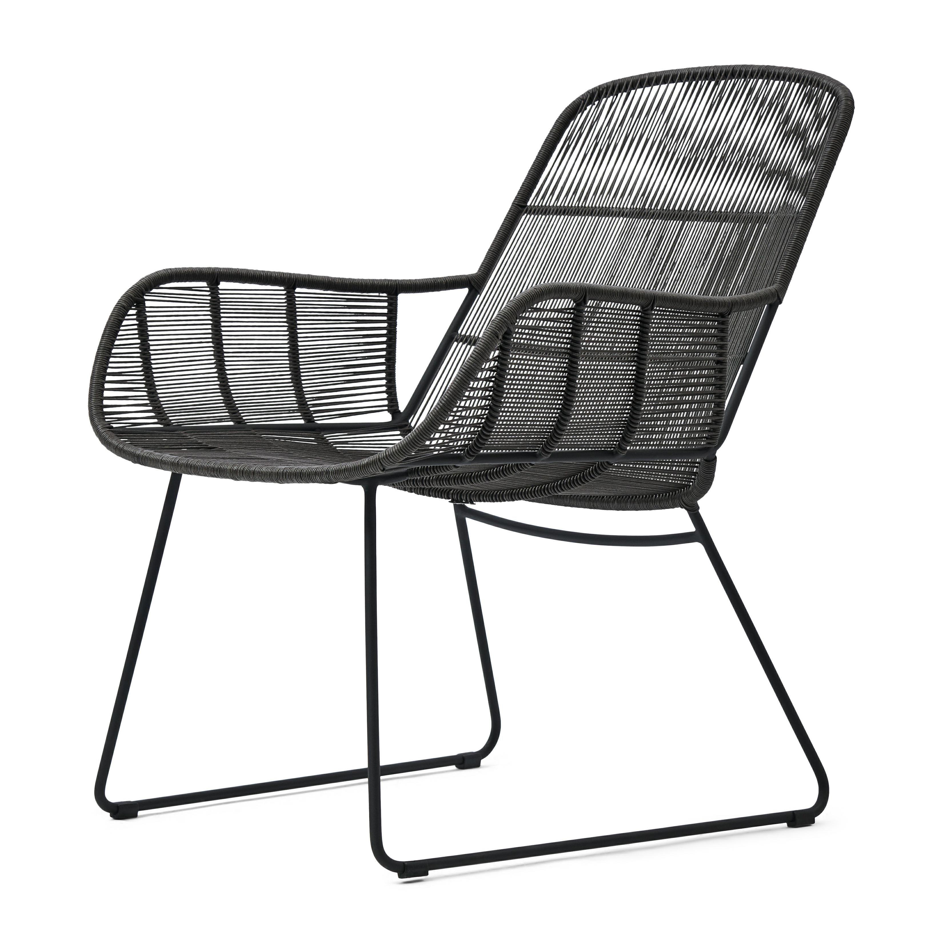 Hartford Outdoor Lounge Chair Espresso/Lava / Rivièra Maison