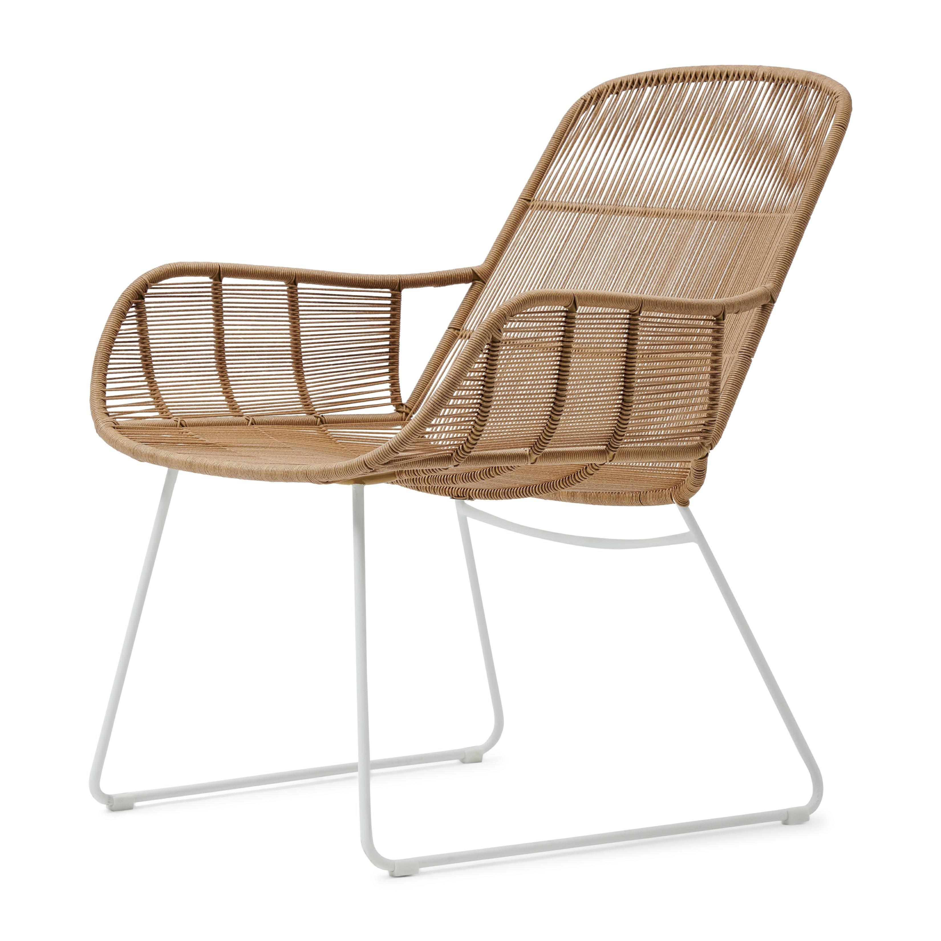 Hartford Outdoor Lounge Chair Natural/Stone White / Rivièra Maison