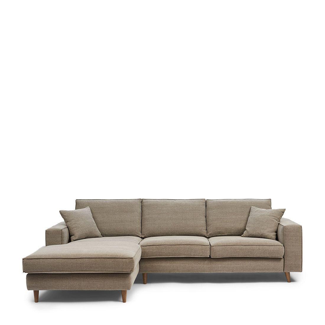 Kendall Sofa With Chaise Longue Left cotton stone / Rivièra Maison