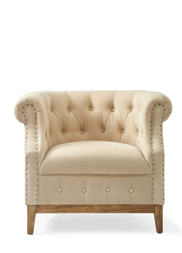 Medford Armchair washed cotton sand / Rivièra Maison