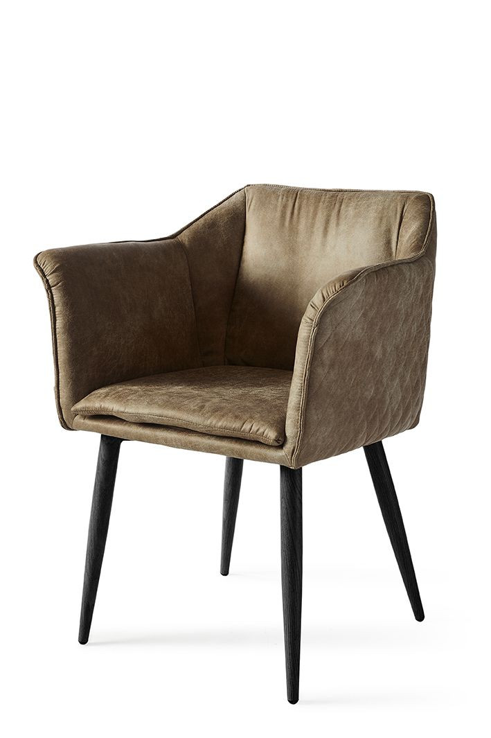 Megan Dining Arm Chair Black Leg pellini coffee / Rivièra Maison