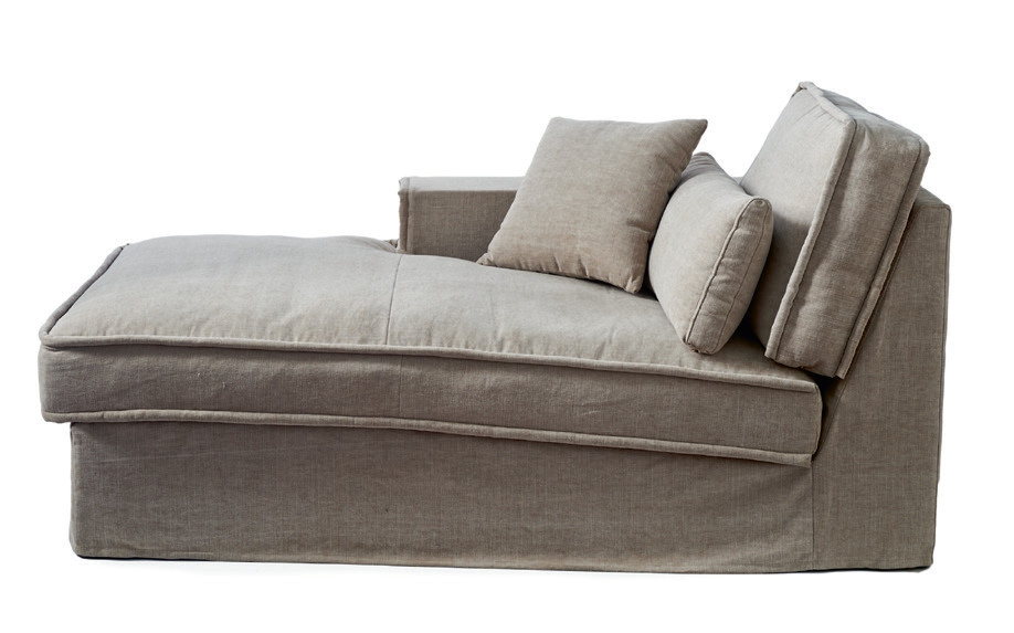 metropolis chaise longue left washed cotton ash grey rivi ra maison. Black Bedroom Furniture Sets. Home Design Ideas
