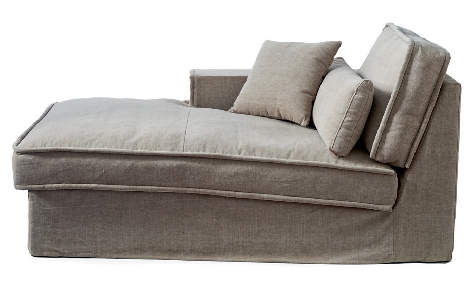 Metropolis Chaise Longue Left washed cotton / Rivièra Maison