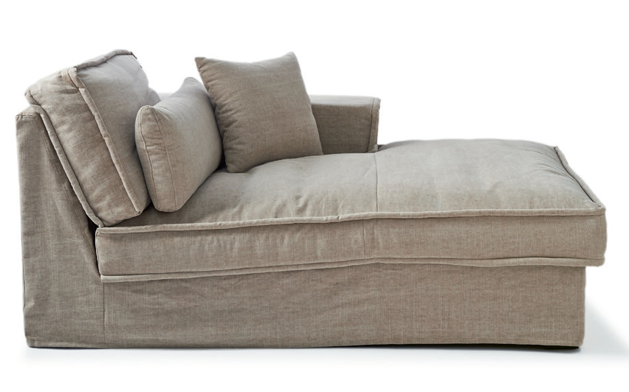 Metropolis Chaise Longue Right Washed Cotton Ash Grey / Rivièra Maison