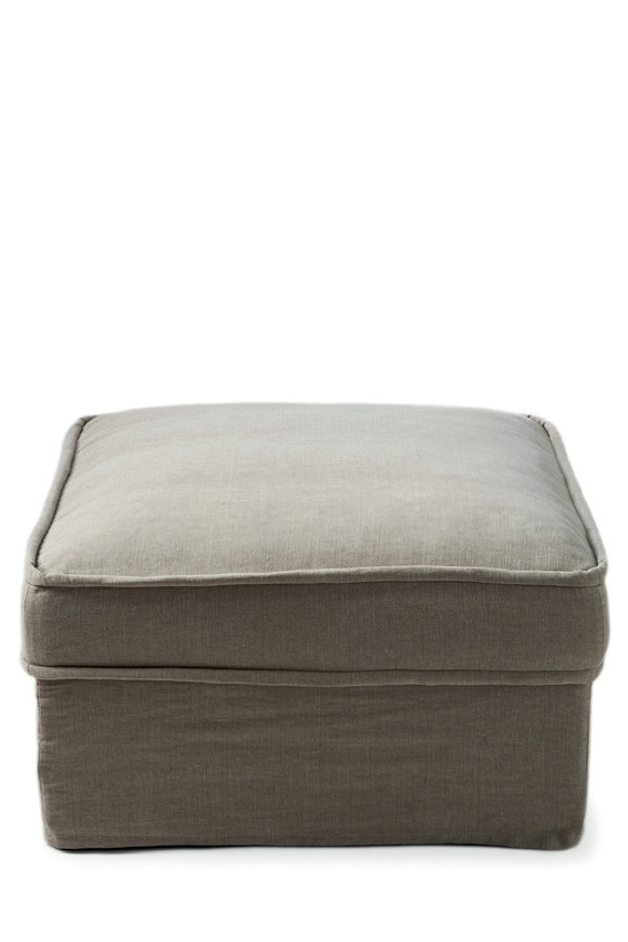 Metropolis Hocker 80x80 Washed Cotton Ash Grey / Rivièra Maison