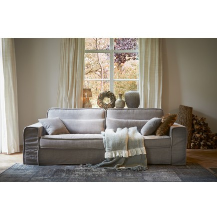 Metropolis Sofa 3,5 Seater Washed Cotton Stone / Rivièra Maison