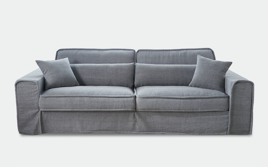 metropolis sofa 3 5 seater washed cotton ash grey rivi ra maison. Black Bedroom Furniture Sets. Home Design Ideas