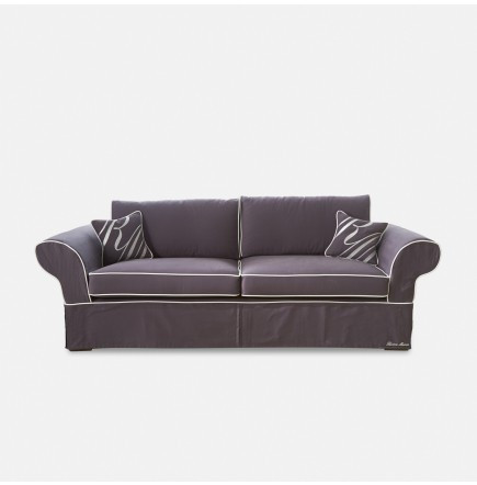 Nelson Bay Sofa 3,5 Cotton Gey-Offwhite / Rivièra Maison
