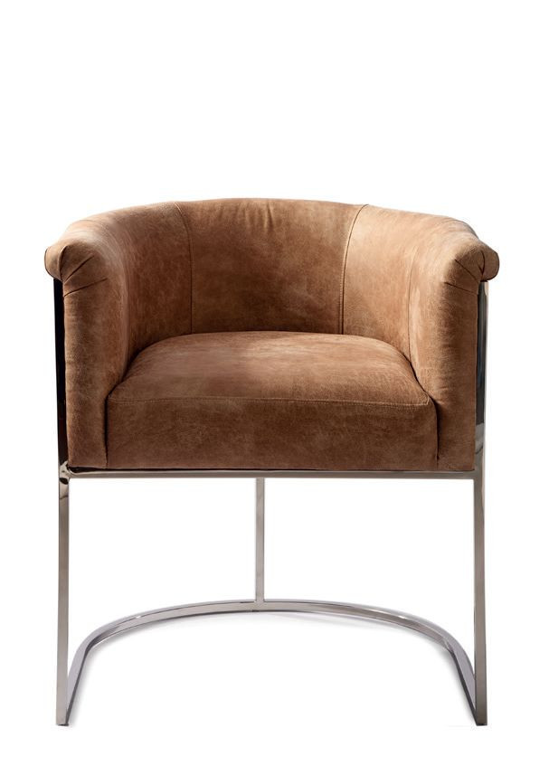 New York Dining Armchair, pellini, coffee / Rivièra Maison