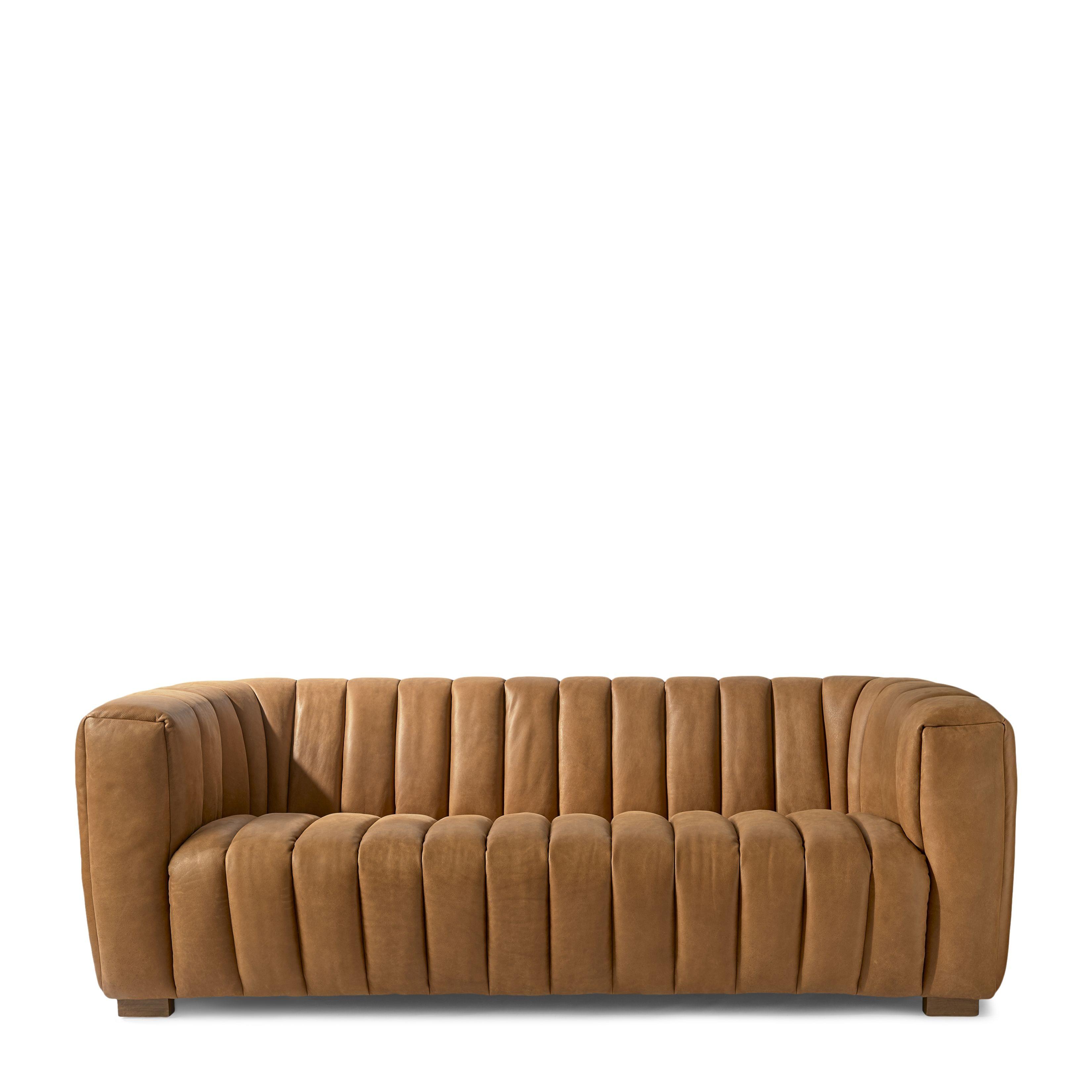 Pulitzer Sofa 3,5 Seater leather cognac / Rivièra Maison