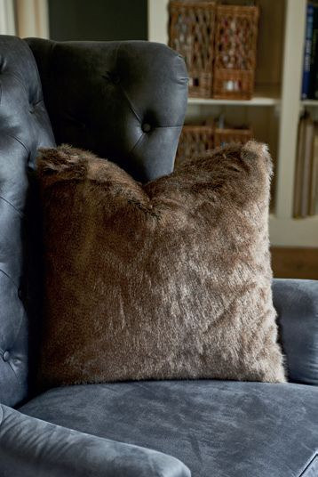 RM Polar grey Faux Fur Pillow Cover 50x50 / Rivièra Maison
