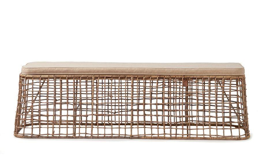 Rustic Rattan Formentera Bench / Rivièra Maison